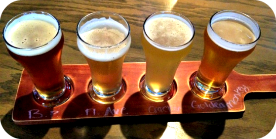Blue Point Toasted Lager, Cold Storage Florida Ave. Ale., Cigar City Florida Cracker & Victory Golden Monkey