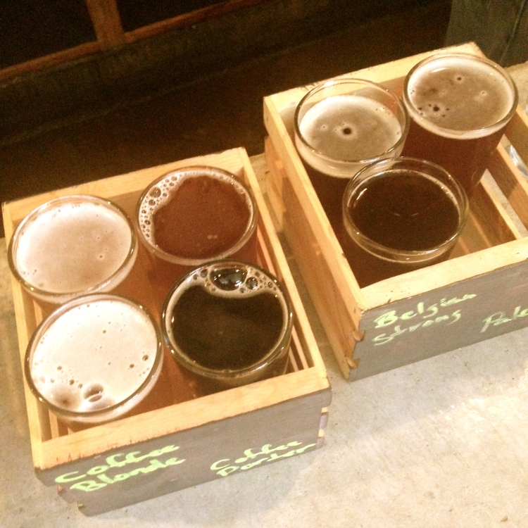 Beer Flight Tasting at Three Daughters Brewing