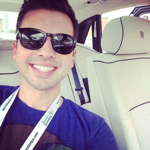 Ryan in a Rolls Royce