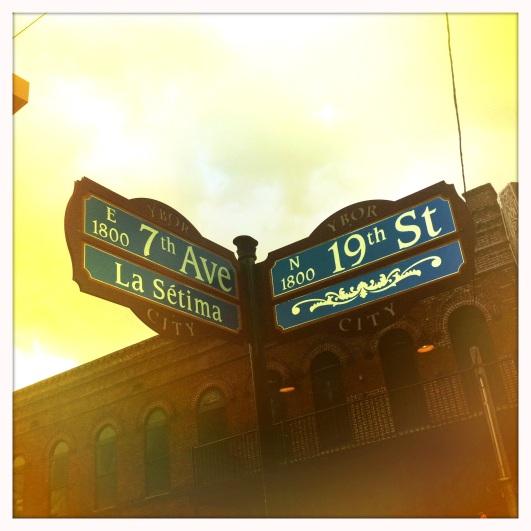 7th Ave street sign, Ybor City