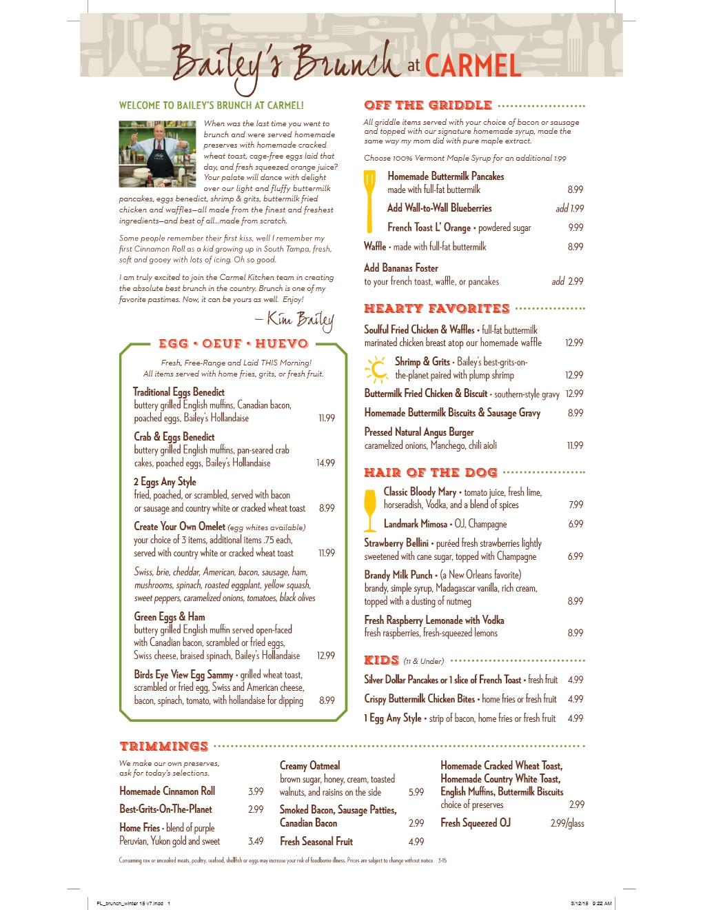 Bailey\'s Brunchin\' at Carmel Kitchen – NHIE Guys