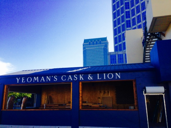 Yeoman's Cask and Lion